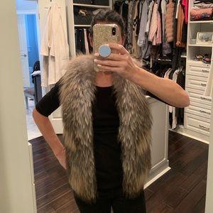 Jackets & Blazers - Mid Length Fur Vest